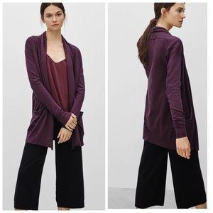 Aritzia Wilfred silk/ cashmere Faubert cardigan
